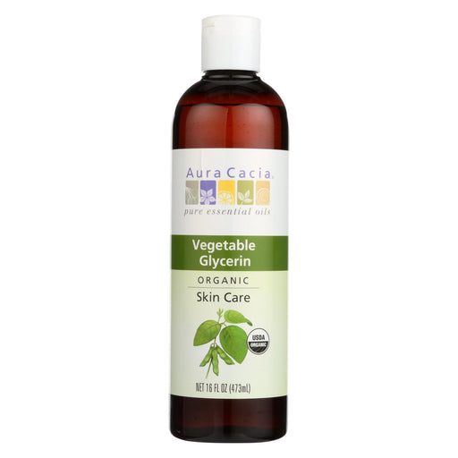 Aura Cacia Skin Care Oil - Organic Vegetable Glycerin Oil - 16 Fl Oz
