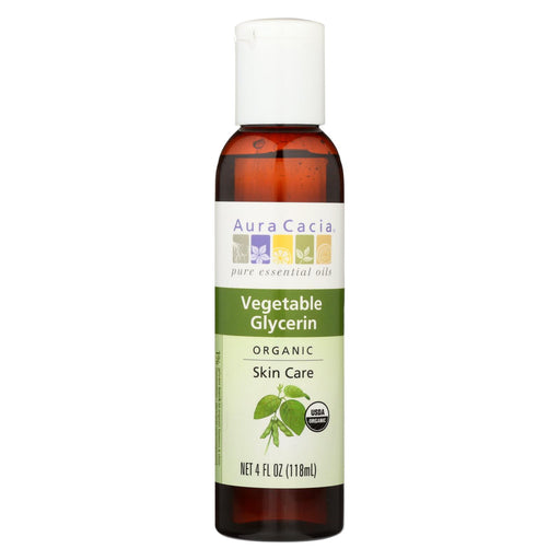 Aura Cacia Skin Care Oil - Organic Vegetable Glycerin Oil - 4 Fl Oz