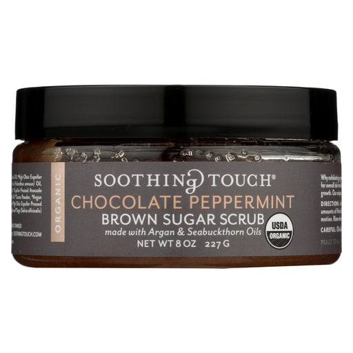 Soothing Touch Scrub - Organic - Sugar - Chocolate Peppermint Brown Sugar - 8 Oz