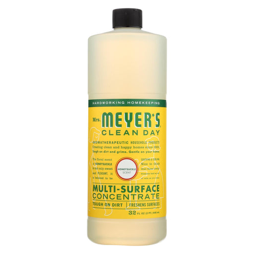 Mrs. Meyer's Clean Day - Multi Surface Concentrate - Honeysuckle - 32 Fl Oz - Case Of 6
