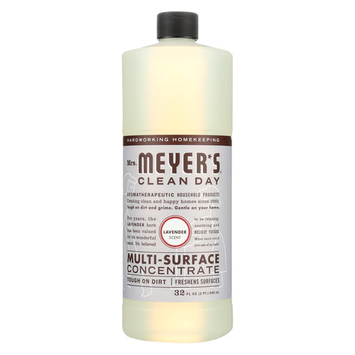 Mrs. Meyer's Clean Day - Multi Surface Concentrate - Lavender - 32 Fl Oz - Case Of 6