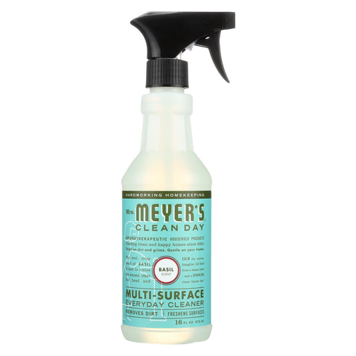 Mrs. Meyer's Clean Day - Multi-surface Everyday Cleaner - Basil - 16 Fl Oz - Case Of 6