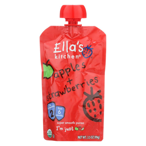 Ella's Kitchen Baby Food - Strawberry And Apple - Case Of 12 - 3.5 Oz.