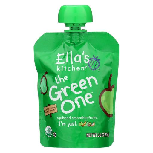 Ellas Kitchen Fruit Smoothie - The Green One™ - Case Of 12 - 3 Oz.