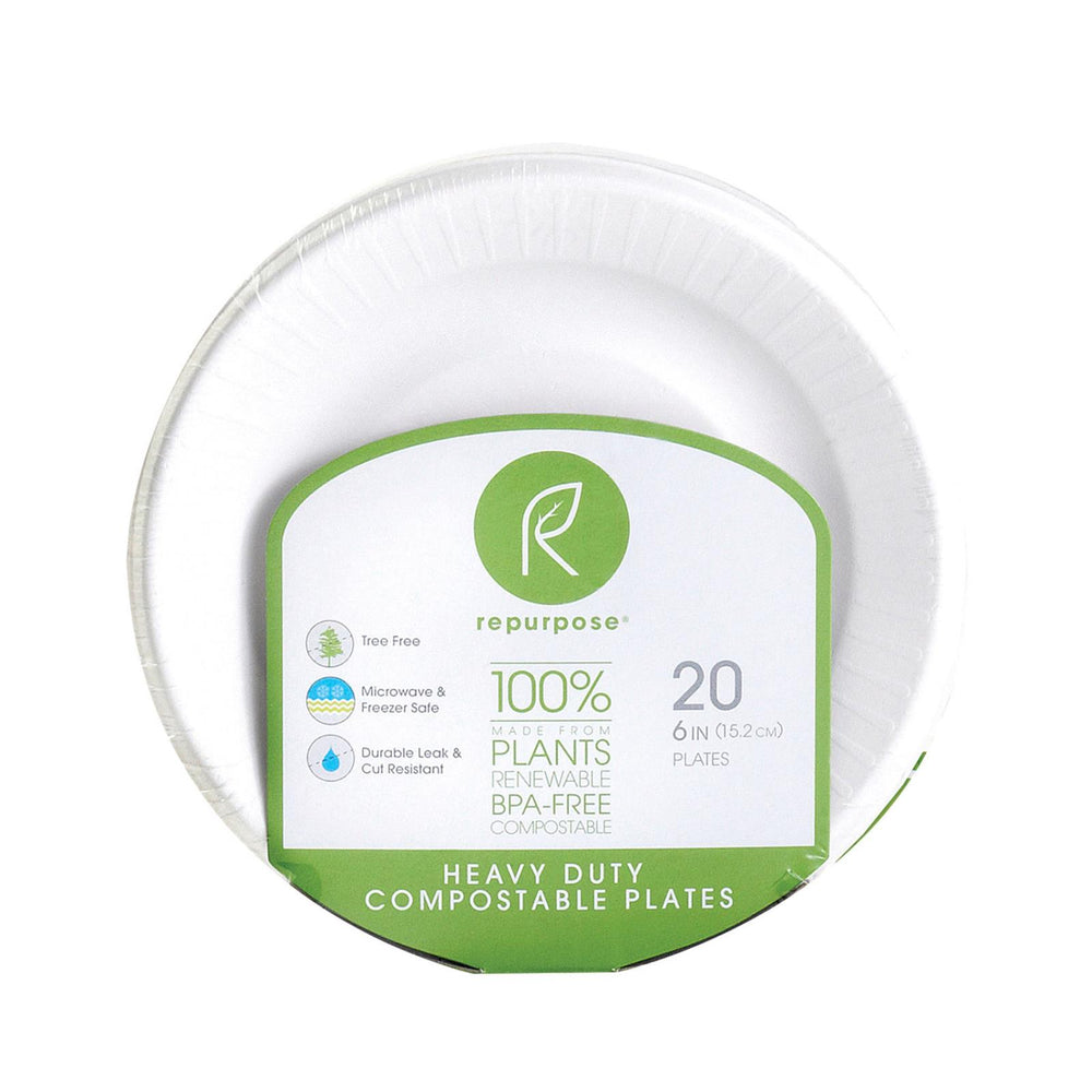 Repurpose Compostable Bagasse Plates - Case Of 24 - 20 Count