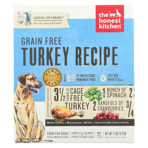The Honest Kitchen Embark - Grain Free Turkey Dog Food - Case Of 6 - 2 Lb.
