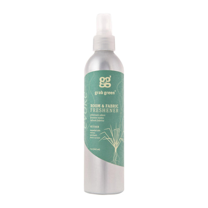 Grab Green Room And Fabric Freshener - Vetiver - Case Of 6 - 7 Fl Oz.