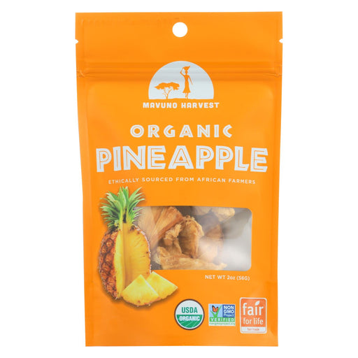Mavuno Harvest Gluten - Free Dried Pineapple - Case Of 6 - 2 Oz.