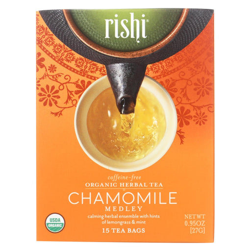 Rishi Herbal Blend - Chamomile Medley - Case Of 6 - 15 Bags