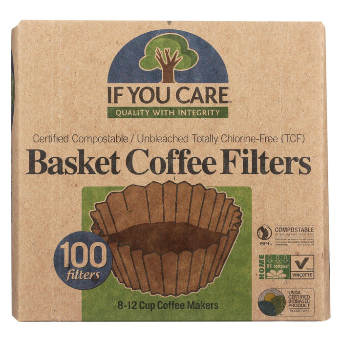 If You Care Coffee Filters - Basket - Case Of 12 - 100 Count