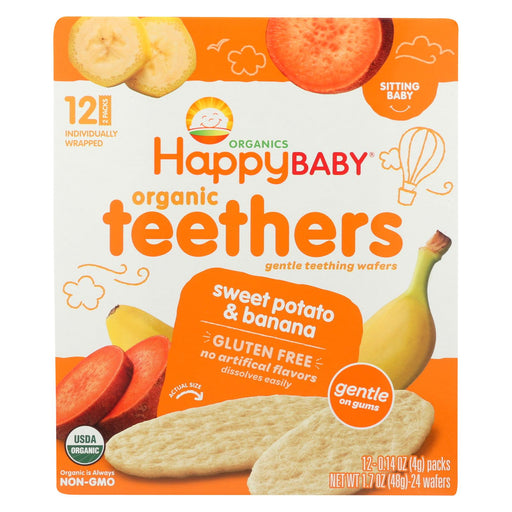 Happy Baby Teethers - Organic - Gentle - Banana And Sweet Potato - 1.7 Oz - Case Of 6