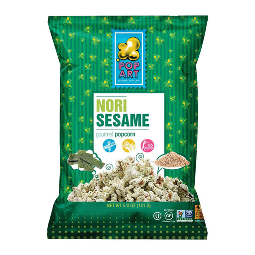 Pop Art Gourmet Popcorn - Nori Sesame - Case Of 9 - 5 Oz.
