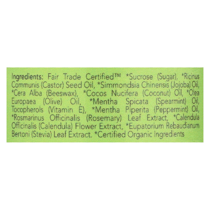 Ecolips Organic Lip Scrub - Mint - Case Of 6 - 0.5 Oz.