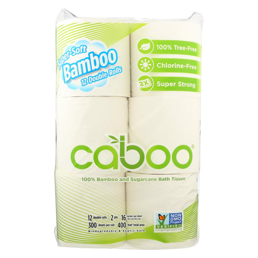 Caboo Bath Tissue - Tissue Bath 300 Sheet - Case Of 6 - 12 Pk