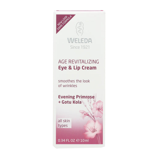 Weleda Eye And Lip Cream - Age Revitalizing - Evening Primrose - .34 Oz