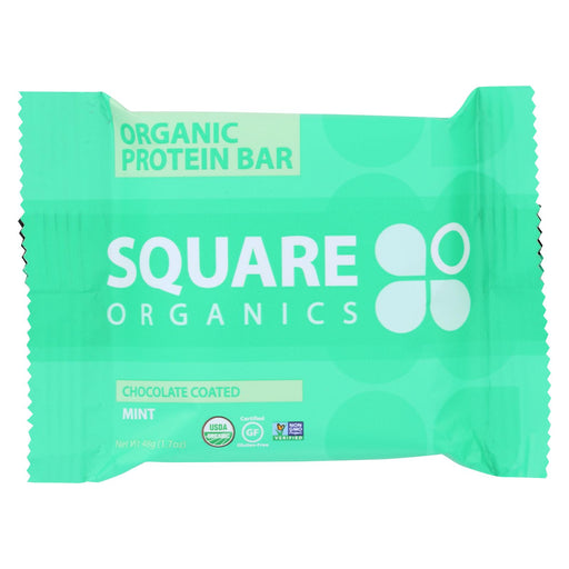 Square Organics Organic Protein Bar - Chocolate Coated Mint - Case Of 12 - 1.7 Oz