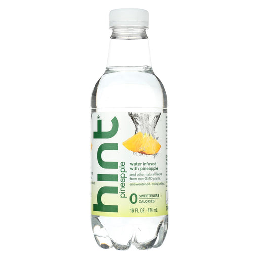 Hint Pineapple Water - Pineapple, Unsweetened - Case Of 12 - 16 Fl Oz.