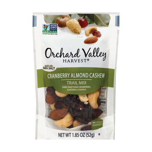 Orchard Valley Harvest Cranberry Cashew Trail Mix - Almond - Case Of 14 - 1.85 Oz.
