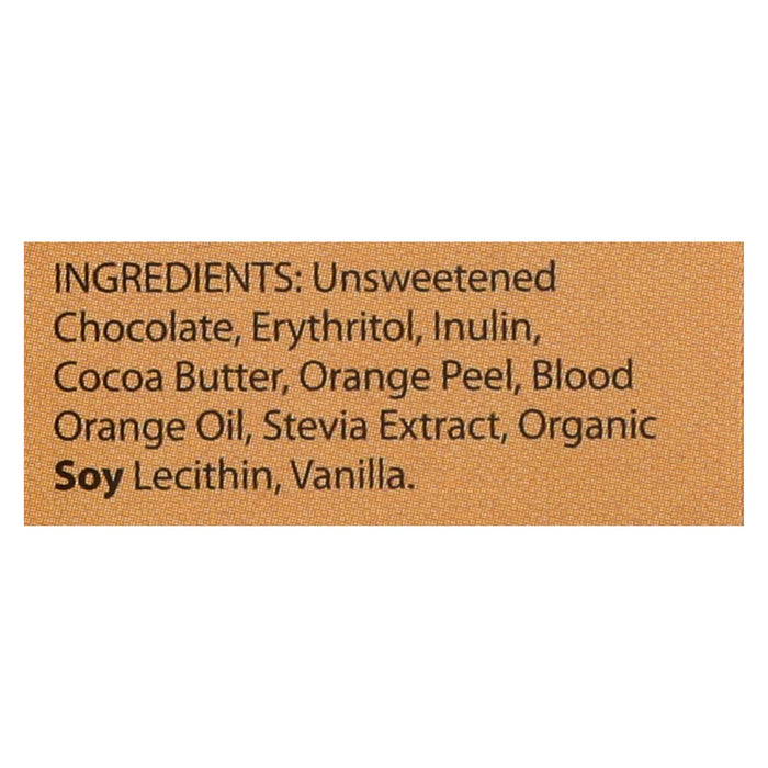 Lily's Sweets Dark Chocolate Bar - Blood Orange - Case Of 12 - 2.8 Oz.