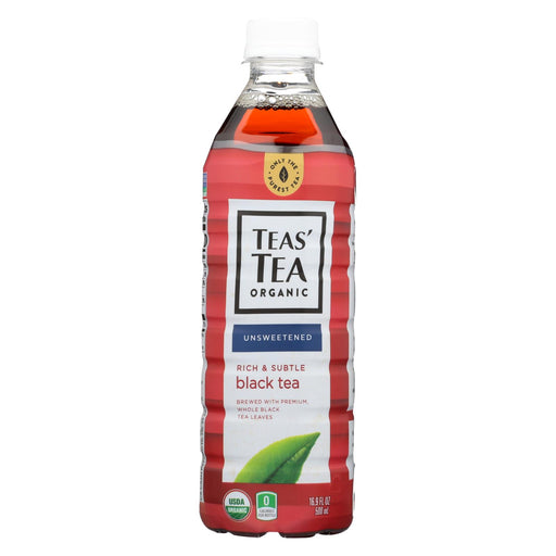 Tea's Organic Black Tea - Unsweetened - Case Of 12 - 16.9 Fl Oz.