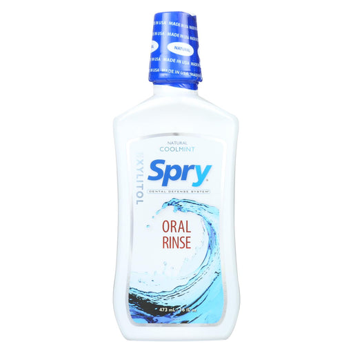 Spry Natural Oral Rinse - Cool Mint - 16 Fl Oz.