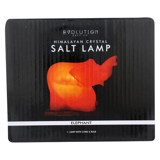 Evolution Salt Crystal Salt Lamp - Elephant - 1 Count