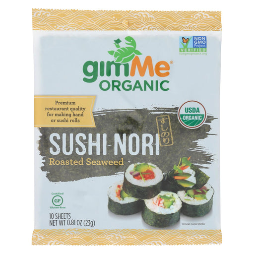 Gimme Seaweed Snacks 100% Organic Roasted Seaweed Sushi Nori - Wrap N' Roll - Case Of 12 - .81 Oz