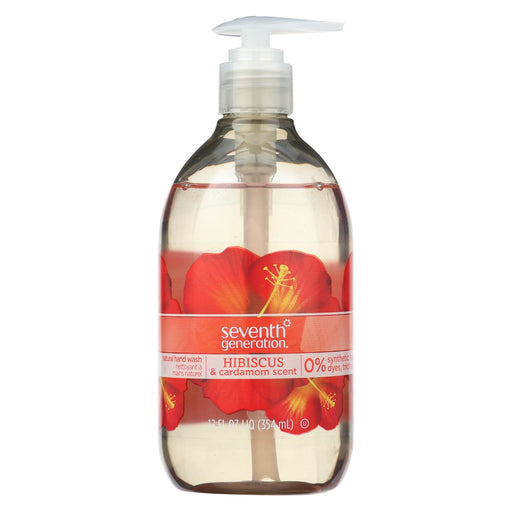 Seventh Generation Natural Hand Wash - Hibiscus And Cardamom - Case Of 8 - 12 Fl Oz.