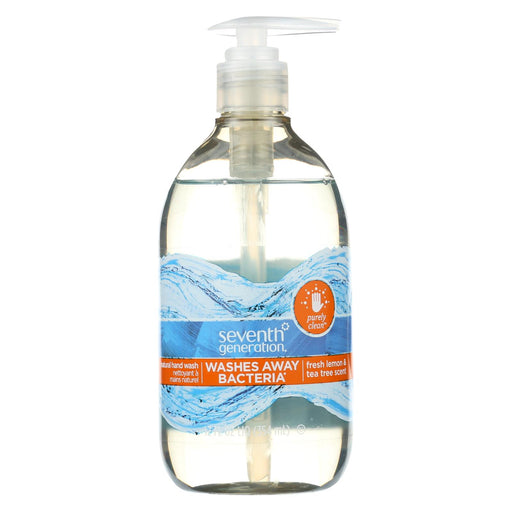 Seventh Generation Purely Clean Hand Wash - Fresh Lemon And Tea Tree - Case Of 8 - 12 Fl Oz.