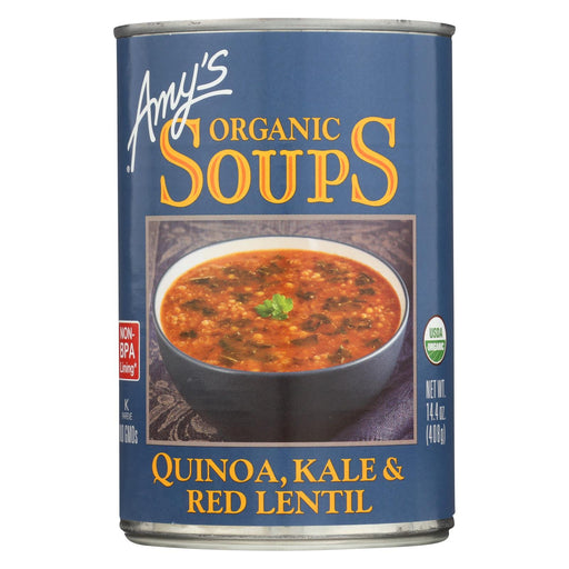 Amy's Organic Soups - Quinoa, Kale And Lentil - Case Of 12 - 14.4 Oz.