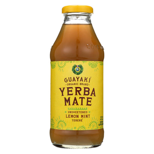 Guayaki Yerba Mate - Unsweetened Lemon Mint Terer? - Case Of 12 - 16 Fl Oz.