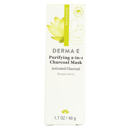 Derma E Mask - Purifying 2-in-1 Charcoal - 1.7 Oz