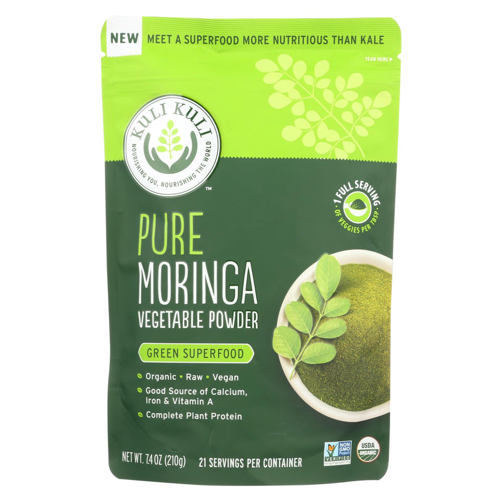 Kuli Kuli Pure Moringa Vegetable Powder - 7.4 Oz.