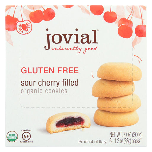 Jovial Gluten Free Cookies - Sour Cherry - Case Of 10 - 7 Oz.