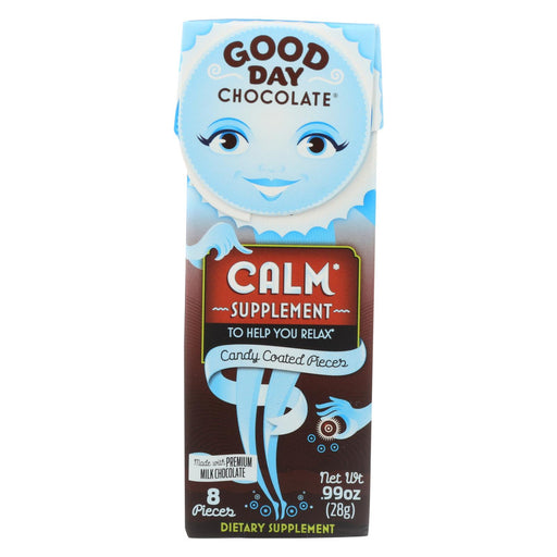 Good Day Chocolate Chocolate Pieces - With Calm - Case Of 12 - .99 Oz