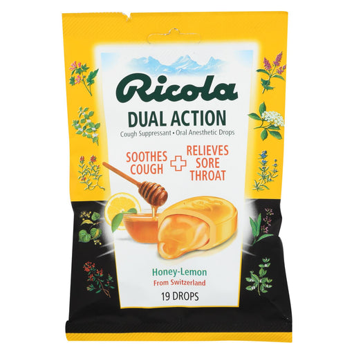 Ricola Cough Drops - Honey Lemon - Case Of 12 - 19 Count