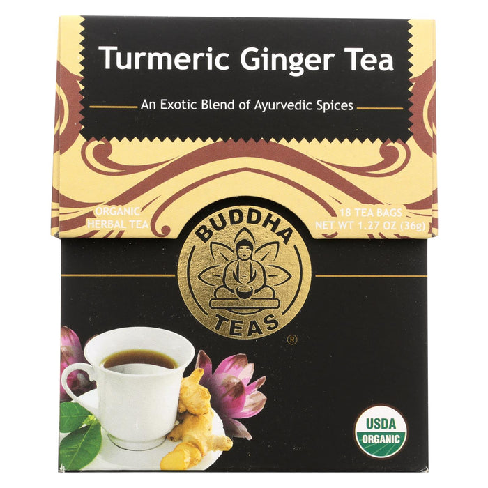 Buddha Teas -tea - Turmeric Ginger Tea - Case Of 6 - 18 Bag