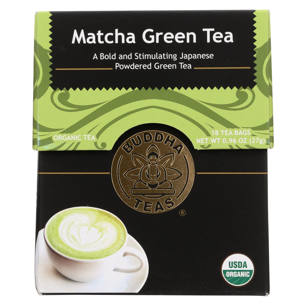 Buddha Teas -tea - Matcha Green - Case Of 6 - 18 Bag