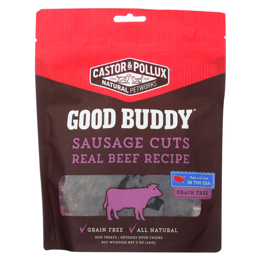 Castor And Pollux Good Buddy Sausage Cuts Dog Treats - Real Beef - Case Of 6 - 5 Oz.