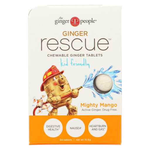 Ginger People Ginger Rescue For Kids - Mighty Mango - 24 Chewable Tablets - Case Of 10