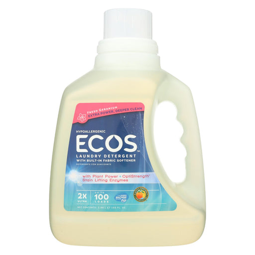 Earth Friendly 2x Ultra Laundry Detergent - Fresh Geranium - Case Of 4 - 100 Fl Oz.