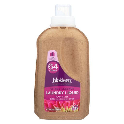 Biokleen Laundry Liquid - Citrus Essence - 32 Oz - Case Of 6