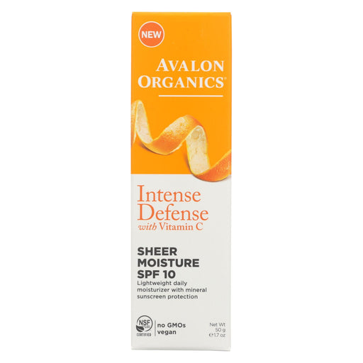 Avalon Intense Defense Sheer Moisture - Spf 10 - 1.75 Oz.