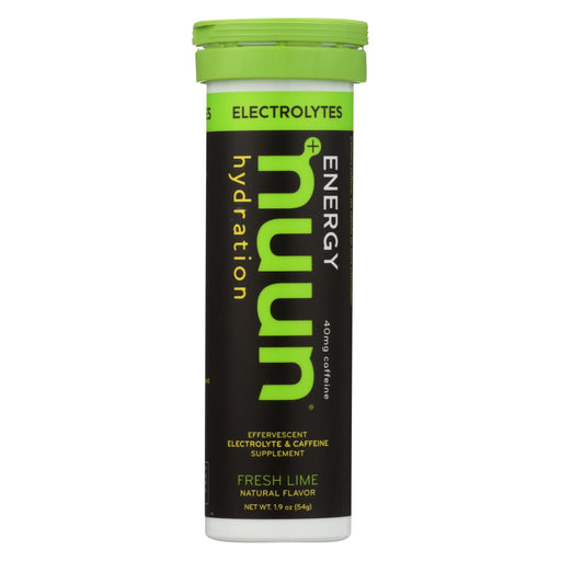 Nuun Hydration Drink Tab - Energy - Lemon-lime - 10 Tablets - Case Of 8