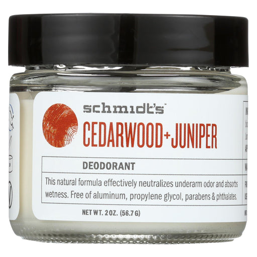 Schmidt's Natural Deodorant Jar - Cedarwood Juniper - 2 Oz.
