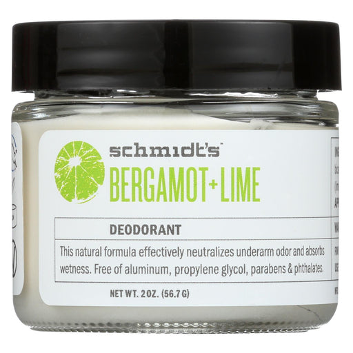 Schmidt's Natural Deodorant Jar - Bergamot Lime - 2 Oz.