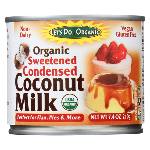 Let's Do Organic Organic Coconut Milk - Sweetened Condensed - Case Of 6 - 7.4 Fl Oz