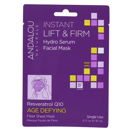 Andalou Naturals Instant Lift & Firm Facial Mask - Age Defying - Case Of 6 - 0.6 Fl Oz