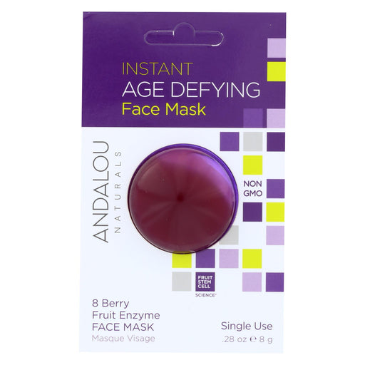 Andalou Naturals Instant Age Defying Face Mask - 8 Berry Fruit Enzyme - Case Of 6 - 0.28 Oz