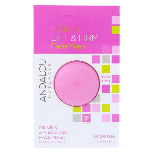 Andalou Naturals Instant Lift & Firm Face Mask - Marula Oil & French Clay - Case Of 6 - 0.28 Oz